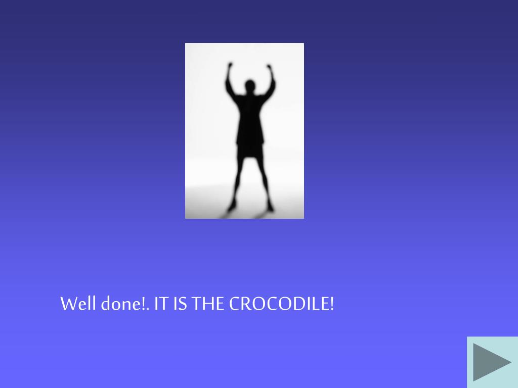 Well done!. IT IS THE CROCODILE!