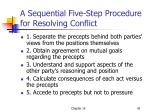 a sequential five step procedure for resolving conflict