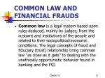 common law and financial frauds