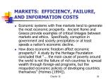 markets efficiency failure and information costs
