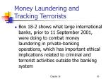 money laundering and tracking terrorists