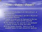 time dates days