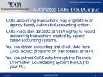 automated cars input output