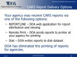 cars report delivery options