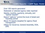 cars reports capp topic 70260