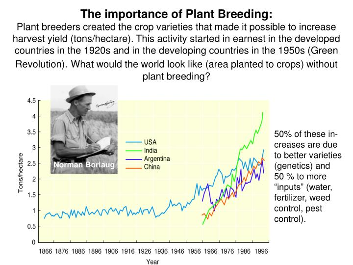 The importance of Plant Breeding: