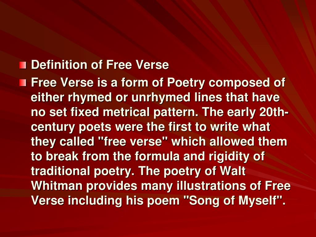 slide19-l Fixed Form Definition Poetry Example on poem lyric, acrostic poem, free verse,