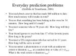 everyday prediction problems griffiths tenenbaum 2006