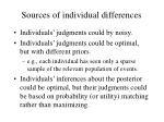 sources of individual differences