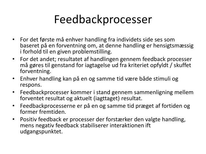 Feedbackprocesser