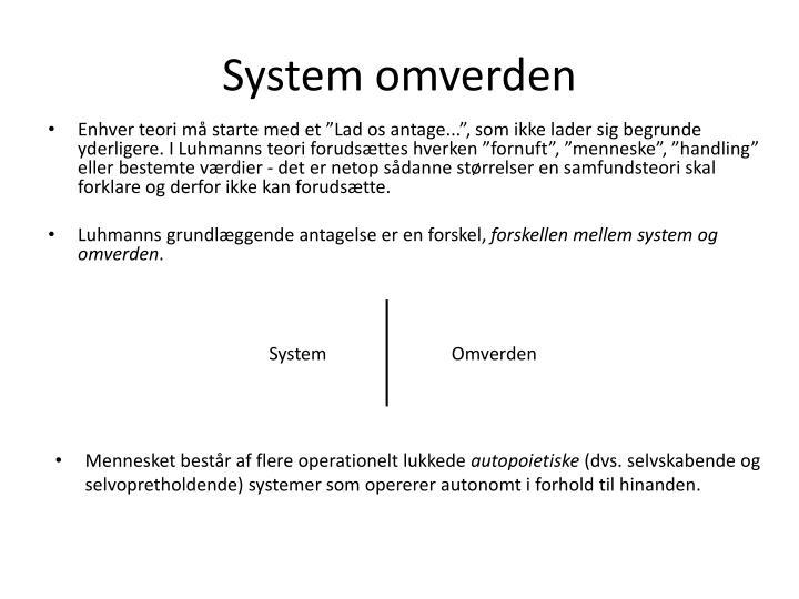System omverden