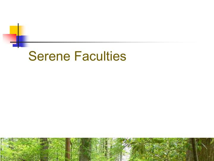 Serene Faculties