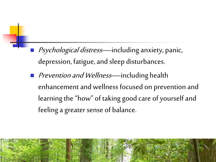 Psychological distress