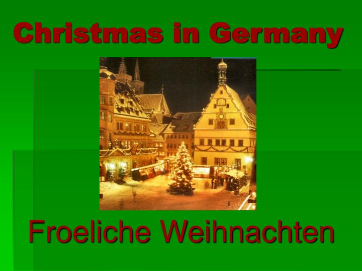 christmas in germany n.