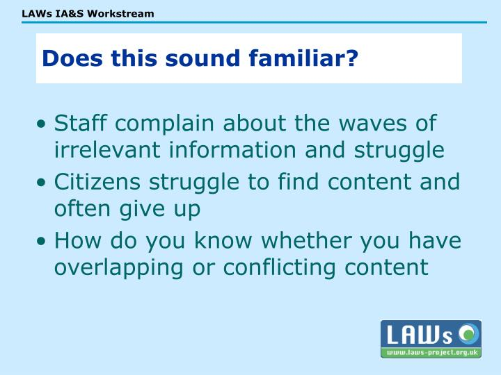 Staff complain about the waves of irrelevant information and struggle