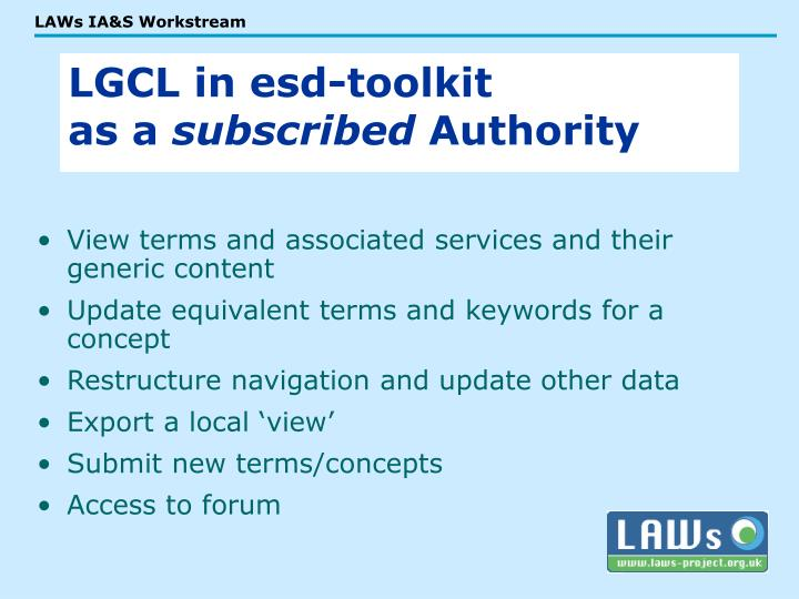 View terms and associated services and their generic content