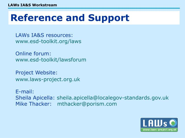 LAWs IA&S resources: