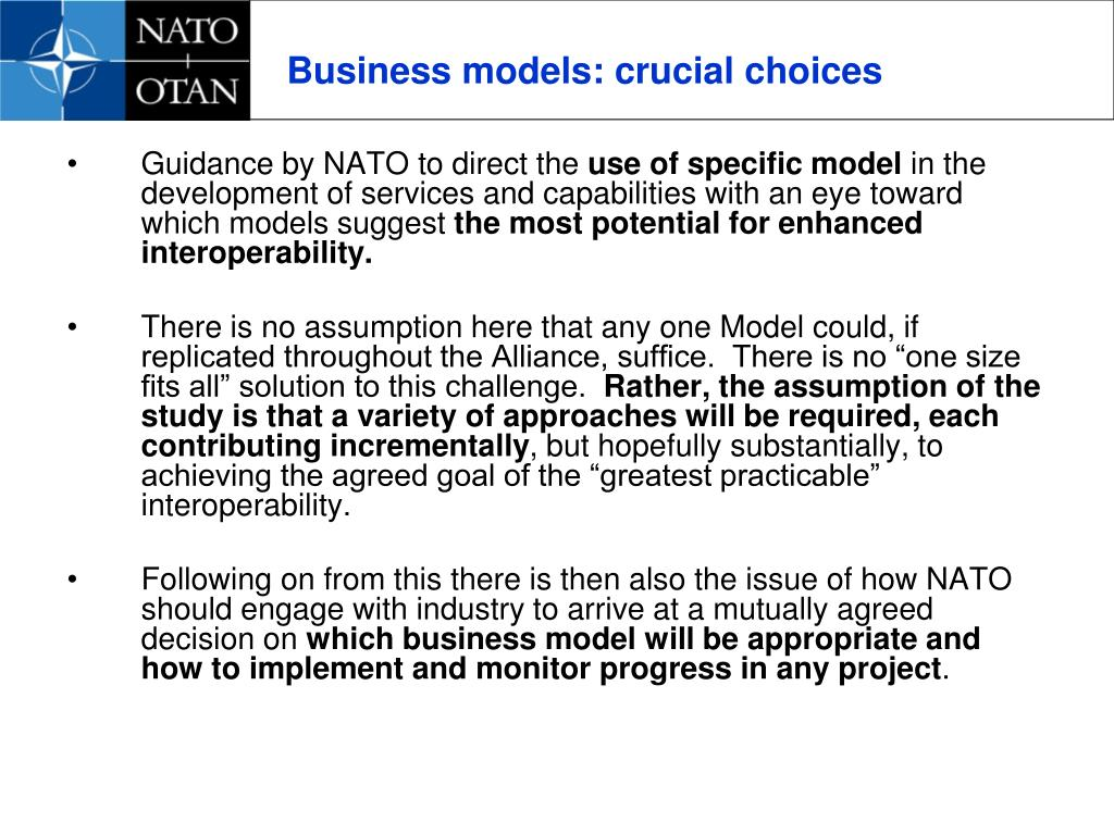 Business models: crucial choices