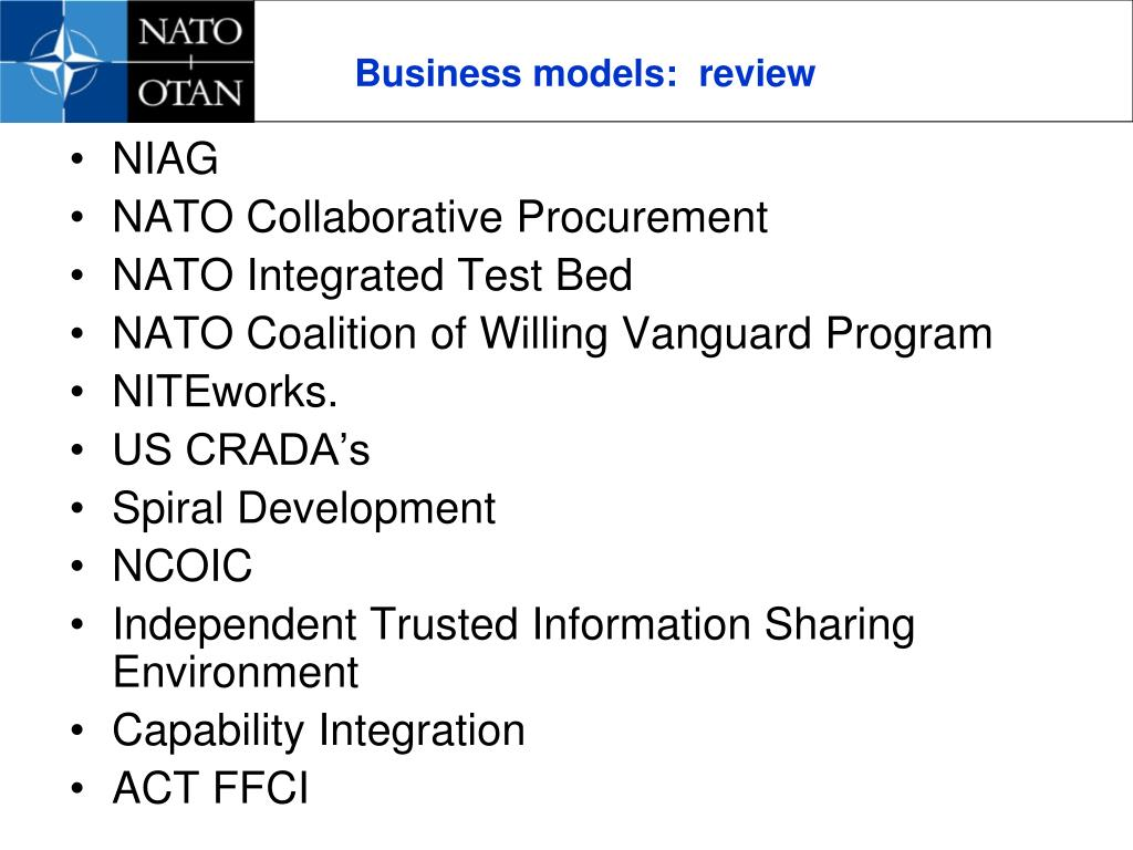 Business models:  review