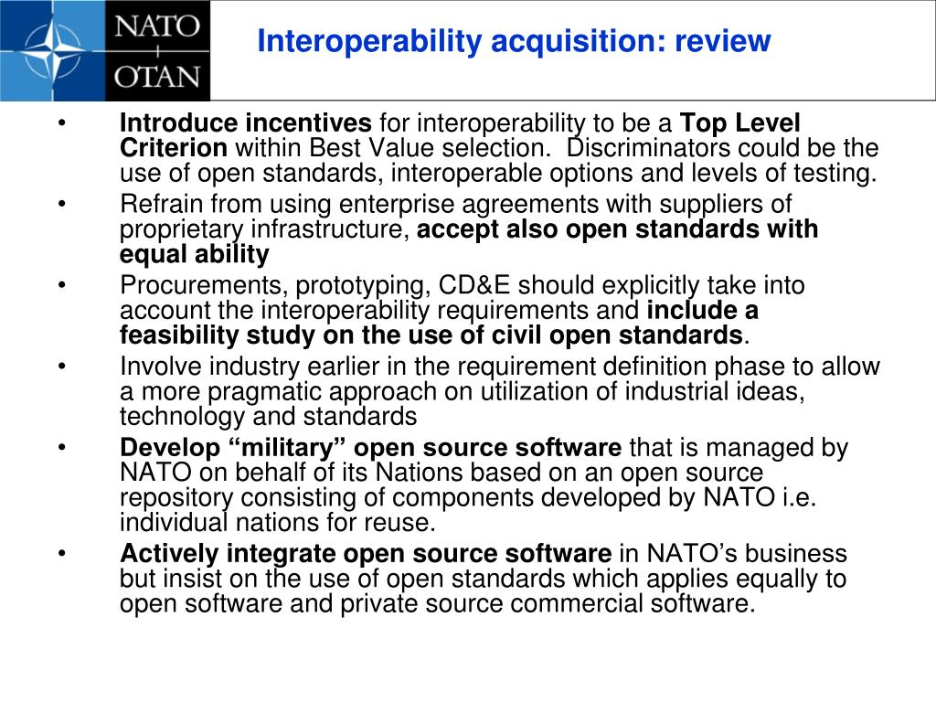 Interoperability acquisition: review