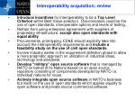 interoperability acquisition review