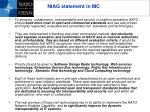 niag statement in mc