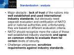 standardization analysis