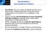 standardization open standards software