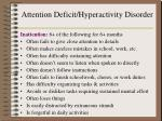attention deficit hyperactivity disorder1