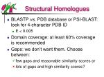 structural homologues