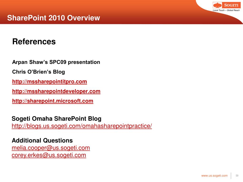 SharePoint 2010 Overview