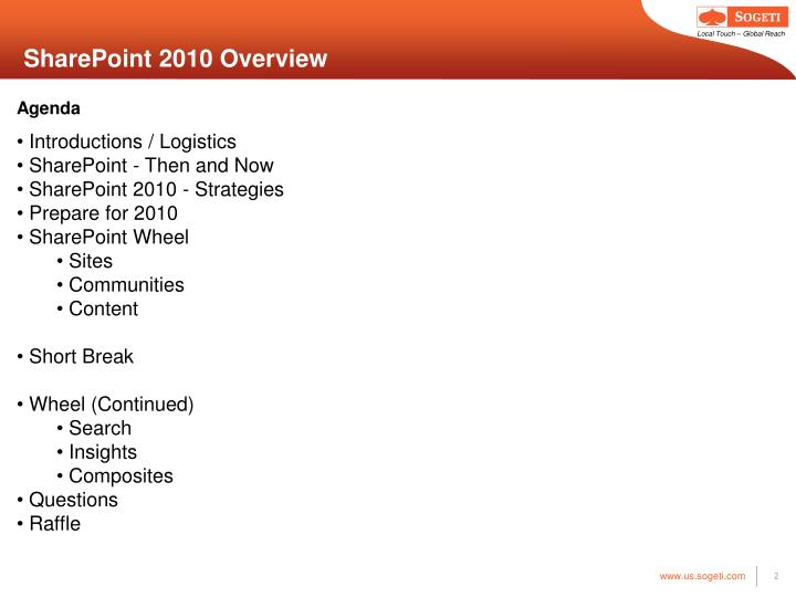 Sharepoint 2010 overview2