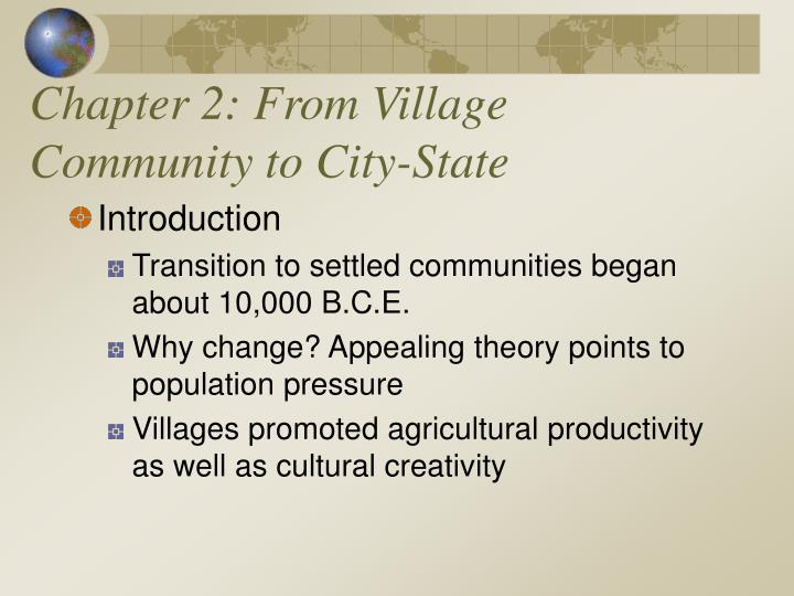 chapter 2 from village community to city state n.