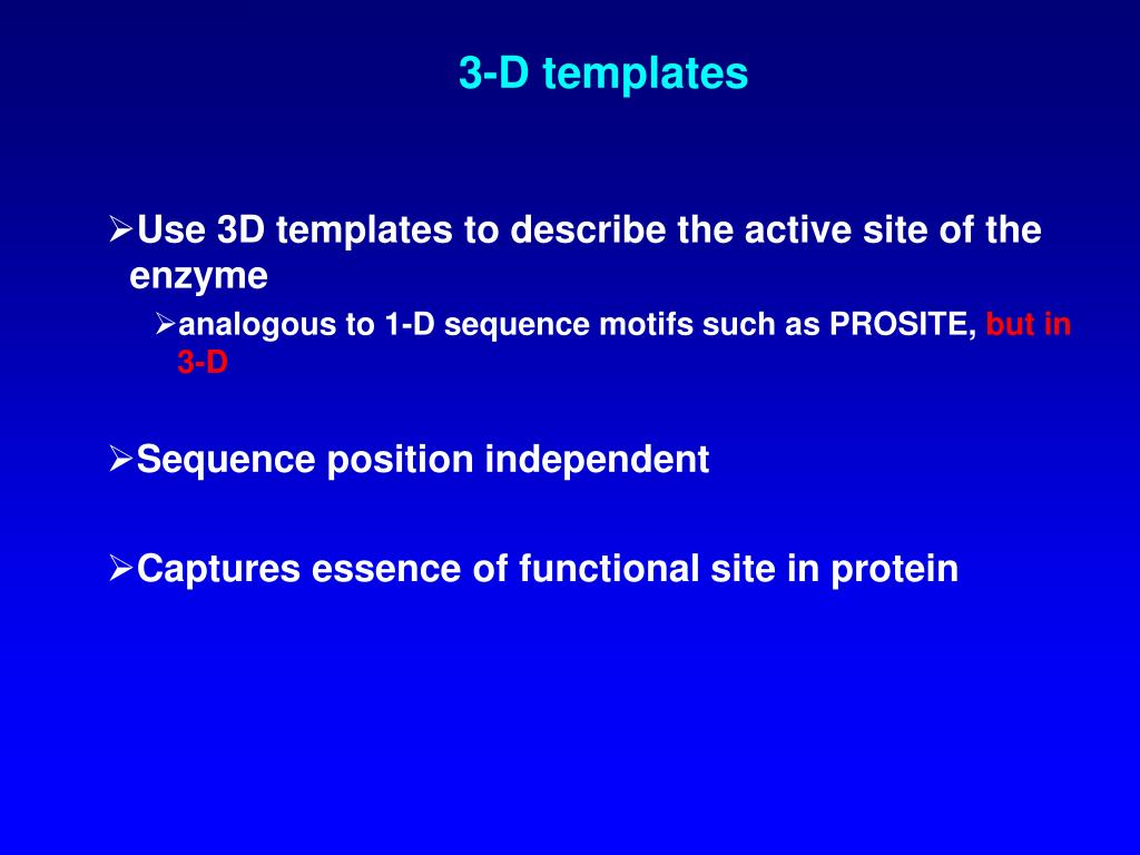 3-D templates