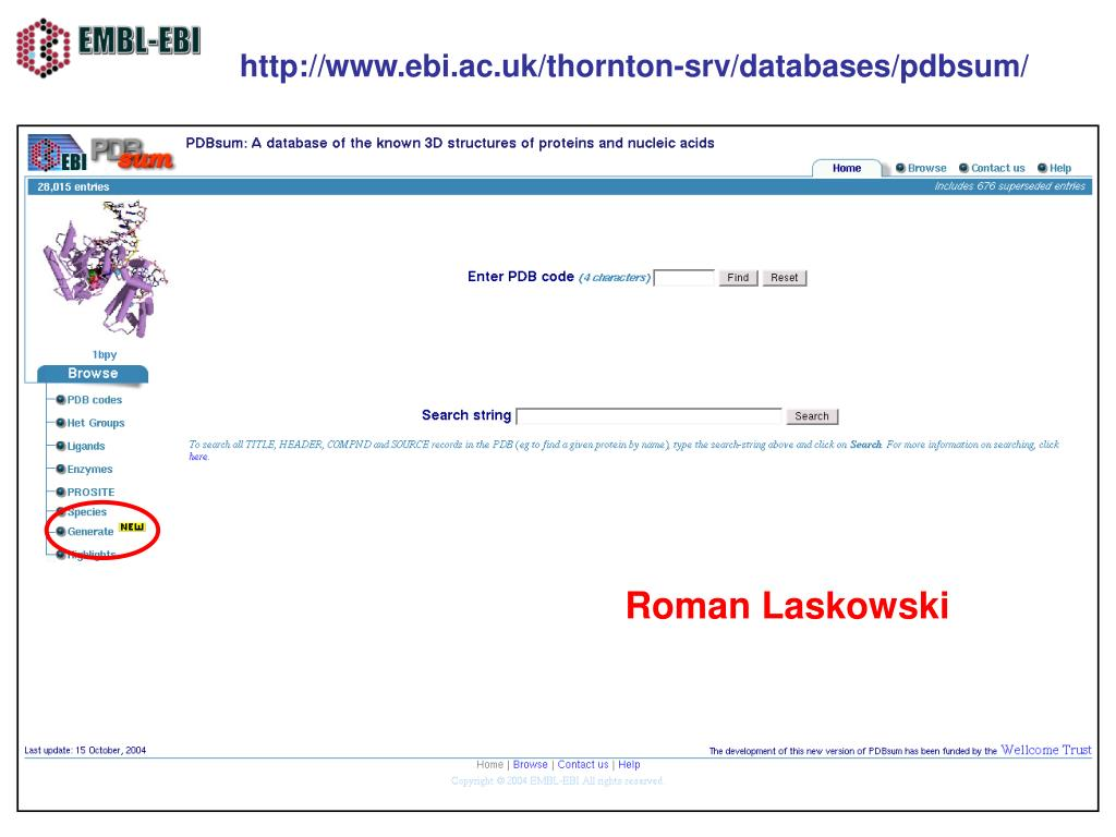 http://www.ebi.ac.uk/thornton-srv/databases/pdbsum/
