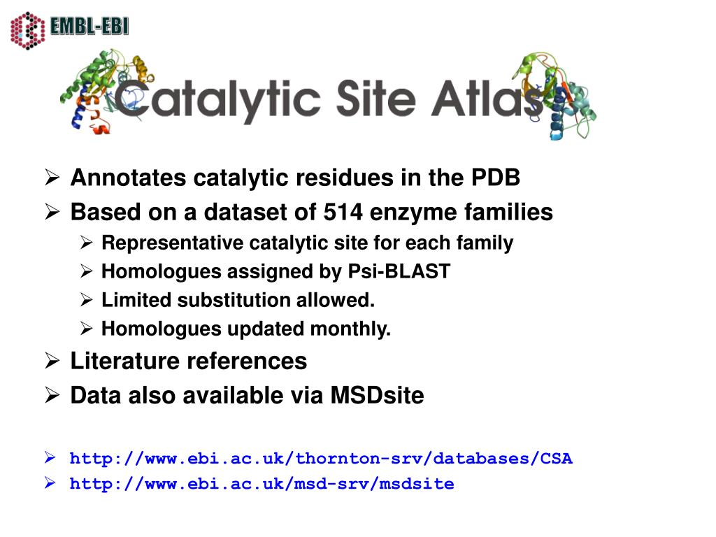 Annotates catalytic residues in the PDB