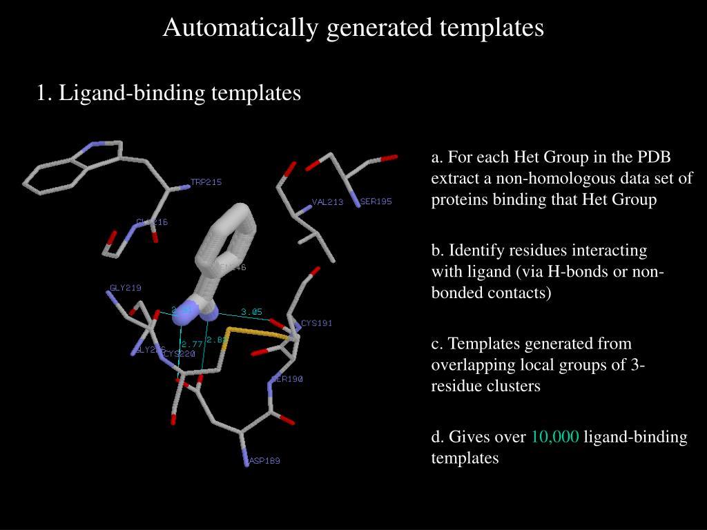 1. Ligand-binding templates