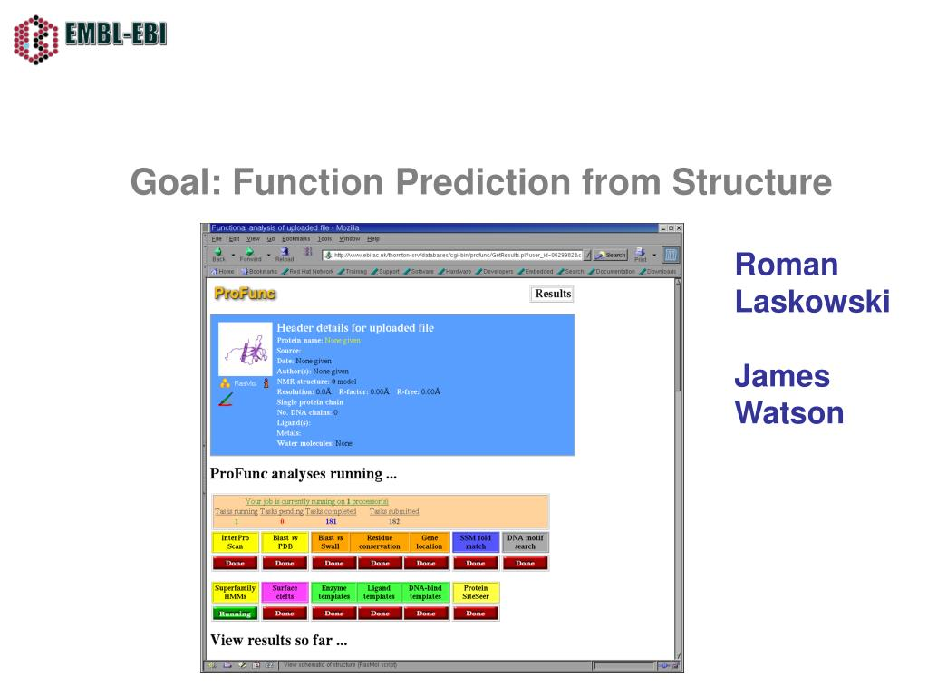Goal: Function Prediction from Structure