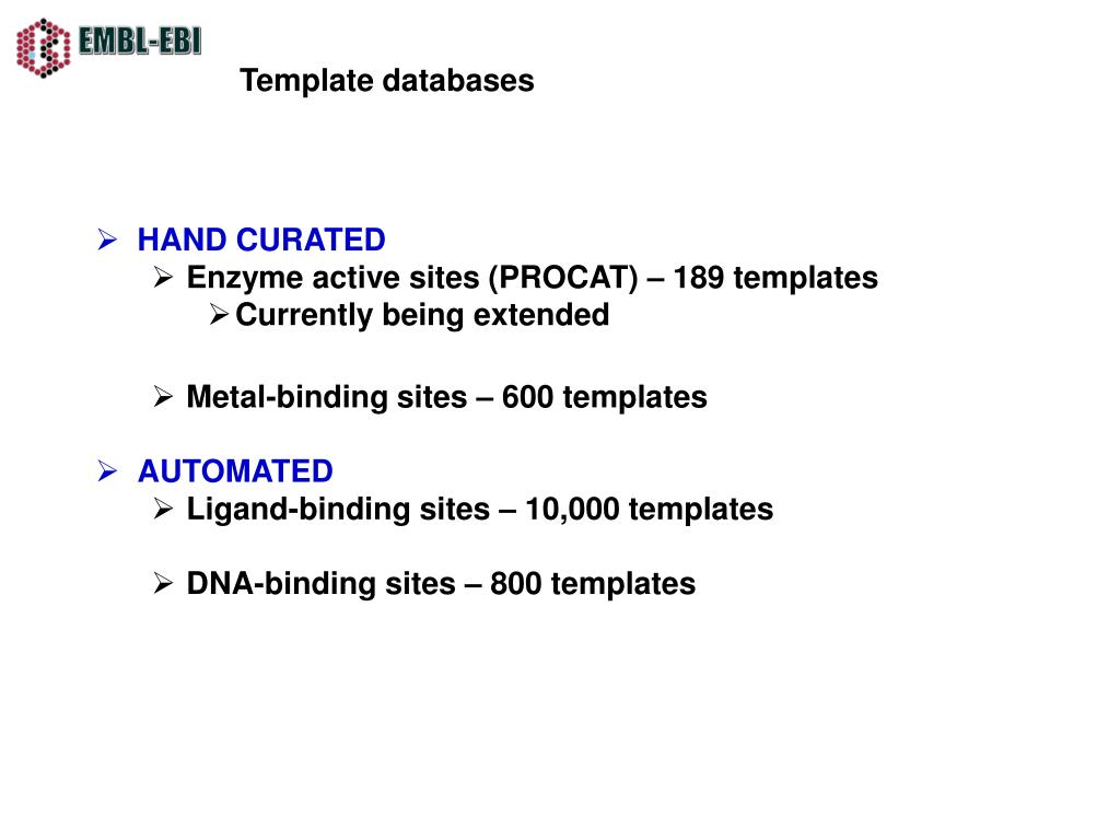 Template databases