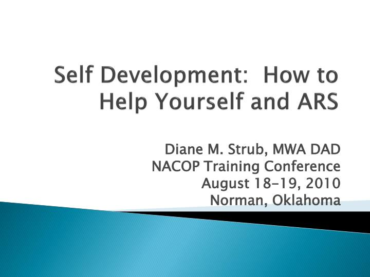 self development how to help yourself and ars n.