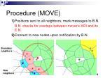procedure move