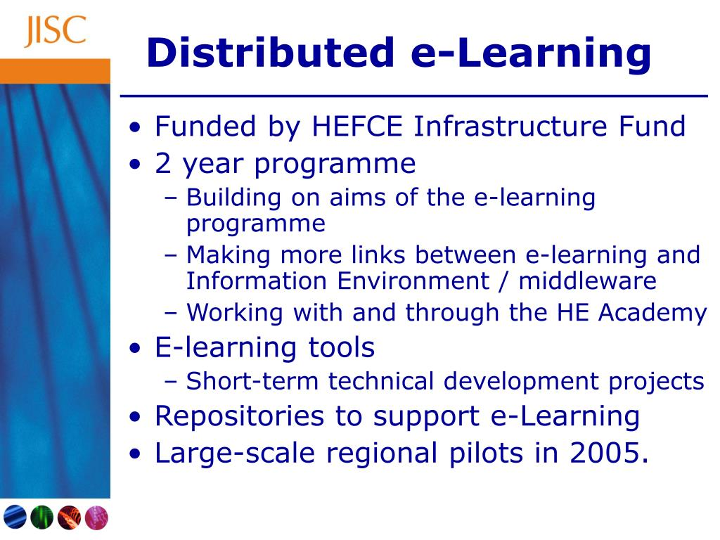 Distributed e-Learning