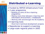 distributed e learning