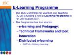 e learning programme