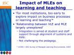 impact of mles on learning and teaching
