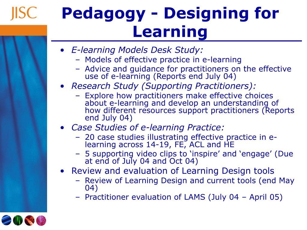 Pedagogy - Designing for Learning