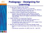 pedagogy designing for learning