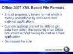 office 2007 xml based file formats