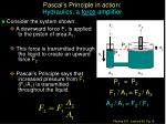 pascal s principle in action hydraulics a force amplifier