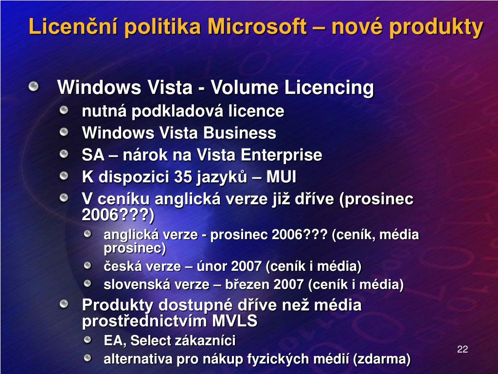 Windows Vista - Volume Licencing
